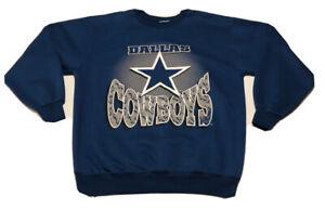 Vintage Dallas Cowboys Sweater Navy Blue Fits Medium Missing Tag NFL Football !!