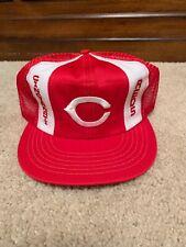 Vintage Cincinnati Reds Snapback Hat Mesh MLB Medium Big Red Machine
