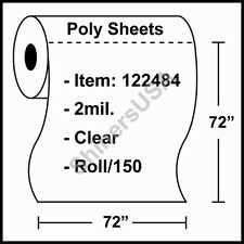 """2 mil Poly Pallet Top Sheets 72""""x72"""" Clear Roll/150 (122484)"""