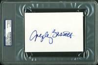 Angela Bassett Authentic Signed 4X6 Index Card Autographed PSA/DNA Slabbed