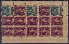 SWITZERLAND SWISS 1924 Sc#160a,used,Booklet Pane from Blatt Used