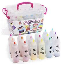 123 Pieces TIE DYE ART Craft Kit 19 Colour Bottles Kids Adults up to 36 Projects