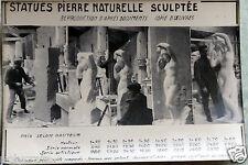 Lot Publicité Société Robert Mojon Pierre Marbre Moulage Saint-Denis An. 50 60