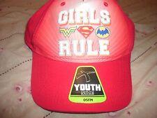 Girls Rule Baseball Cap Hat Super Hero Girl Wonder Woman Supergirl  Batwoman(B107 2811ea5e1962