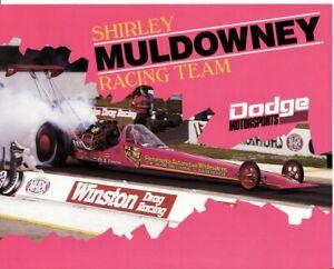 1987 Shirley Muldowney Dodge Hemi Top Fuel Dragster (2) handout hero cards Mopar