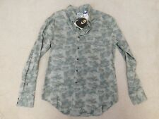 Naked and Famous camo print shirt size L NWT RRP £130 L/S slim fit