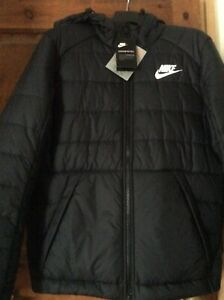 Nike padded puffer Thermore EVOdown black jacket NWT Size Medium M