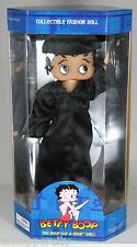 "Betty Boop College School Graduate Gown Doll 12""  Black University college High"
