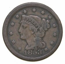 Better 1853 Braided Hair US Large Cent Penny Coin Collection Lot Set Break *977