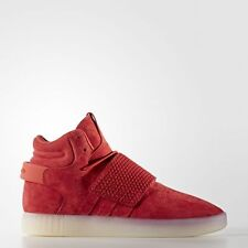Adidas Originals Tubular Invader Strap Red Mens BB5039 Suede SHOES Sneakers