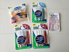 Lot of 5 GUM Dentek Oral-B Interdental Teeth Cleaners Proxabrushes Brush Refills