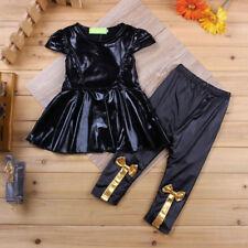 Baby girl shirt dress + leggings suit