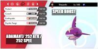 6IV ULTRA Shiny SHARPEDO BATTLE READY Pokemon Sword and Shield