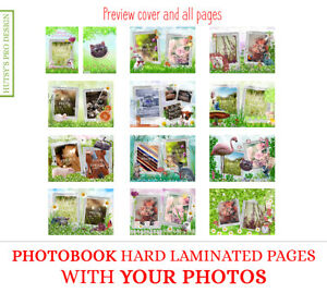 PHOTO BOOK Custom YOUR PHOTO A4 Personal Design HardCover Page Memory Album