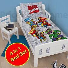 Marvel Comics Rétro bébé Junior 4 En 1 Parure set housses+COUETTE+OREILLER