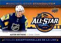 2018-19 Upper Deck Tim Hortons NHL All Star Standouts Auston Matthews #AS-4