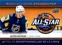 2018-19 Upper Deck Tim Hortons NHL All Star Standouts Auston Matthews #AS-4