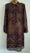 Polyester Paisley Long Sleeve No Tops & Shirts for Women