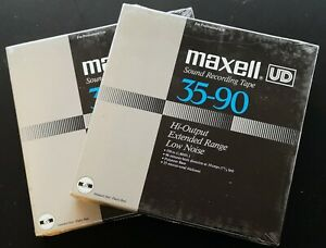 SEALED- 2 Lot Maxell UD 35-90 Reel to Reel tapes 1800 FT Magnetic Recording Tape