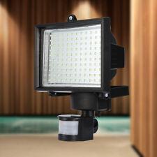 120 LED Luz Lámpara Solar de Pared Sensor de Movimiento 180° Para Jardín Camino