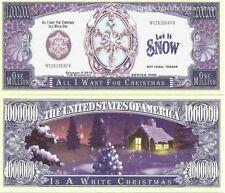 White Christmas Snow Flake Million Dollar Bills x 2 All I Want for Christmas