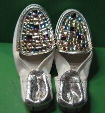 Women's Foldable Jeweled Silver-heel Shoe - Size 5.5 - Made in Korea - NEW
