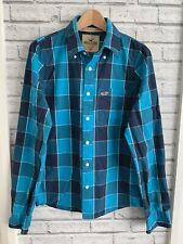 Hollister size M men's blue check shirt longsleeve