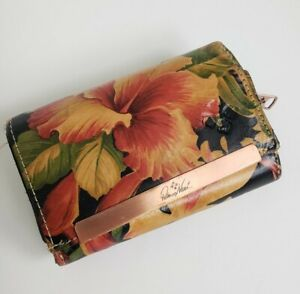 Patricia Nash Leather Tropical Hibiscus Print Wallet / Clutch