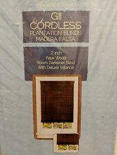 "Achim Gii Cordless 2"" Slat Faux Wood Plantation Blind / 35 x 64 / Mahogany"