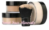 4pc FULL SIZE KIT (FAIR 1) Mineral Makeup Set Kabuki Bare Face Powder Foundation