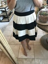Boden womens Black And White Pleated Skirt Sz 6R