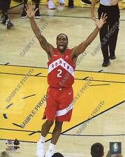 Kawhi Leonard Celebrates 2019 NBA Championship Finals 8x10 Authentic Photo
