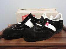 NOS Knapp Shoe Oil Resistant Sport Athletic Sneaker 10D VTG Black Leather Vibram