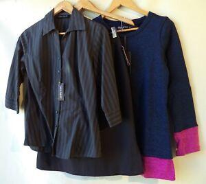 Bulk lot 3 three items size 10 clothing NWT black blue tops skirt mixed women