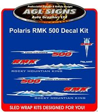 2002 POLARIS RMK 500 HOOD DECALS graphics Reproductions