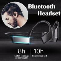 Open-ear IPX8 Wireless Bone Conduction Headphones Bluetooth 5.0 Sports E6Y4