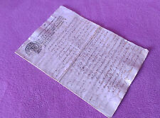 Manuscrit Original, Prise de Possession Du Château Castellar de la Valles 1774