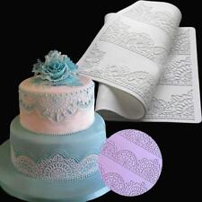 Large Flower Lace Fondant Mold Wedding Sugarcraft Icing Mat Cake Pastry Decor LA