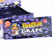 2 Pack 1 1/4 Grape Flavored Cigarette Hemp Rolling Papers with Sealed Pouch
