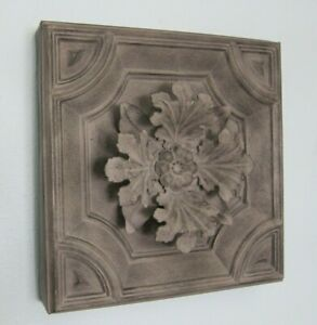 Rare Architectural Wall Metal Faux Tin Plaque Decorative Three Dimensional-2nd