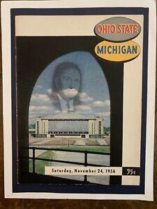 1956 Michigan vs Ohio St football program/Ron Kramer/WOODY HAYES/JIM PARKER-MINT