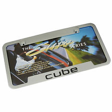 Nissan Cube Chrome Brass Notched License Plate Frame