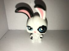 Littlest Pet Shop~#No~Magic Motion~White Black Bunny Rabbit~Eyes Move~Blue Eyes