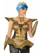Futuristic Womens Adult Gold Space Lady Costume Corset-Std