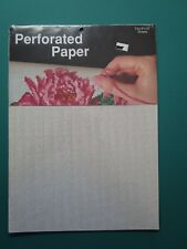"Perforated Paper-2 sheets- 9"" x 12""-White"