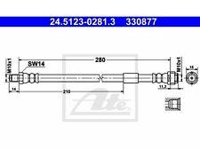 ATE Bremsschlauch   für Mercedes-Benz C-Klasse E-Klasse C-Klasse T-Model CLK