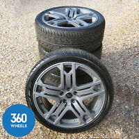 "GENUINE KAHN RANGE ROVER 22"" RS600 DISCOVERY SPORT VOGUE ALLOY WHEELS TYRES L494"