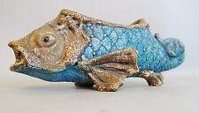 Superb Antique Amphora Austria Figural Fish Art Nouveau Pottery Vase  c. 1910