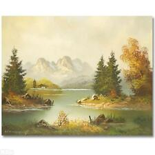 ORIGINAL Painting on Canvas Hand Signed by Heinz Friedrich Famous Landscapes!