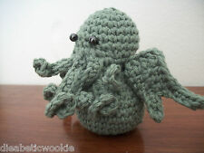 knitted yarn Cuddly Cthulhu beanie toy H.P. Lovecraft one of a kind! rare